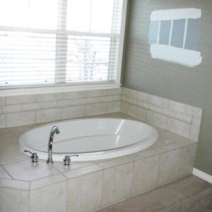 Old Tub in Master Bathroom Remodel Denver