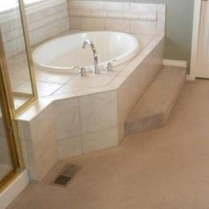 Before Tub Tile Bath Remodel Denver CO