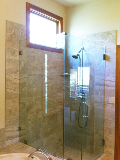 bathroom remodel glass shower door all about bathrooms