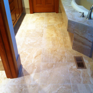 Bathroom Remodel Tile Floor