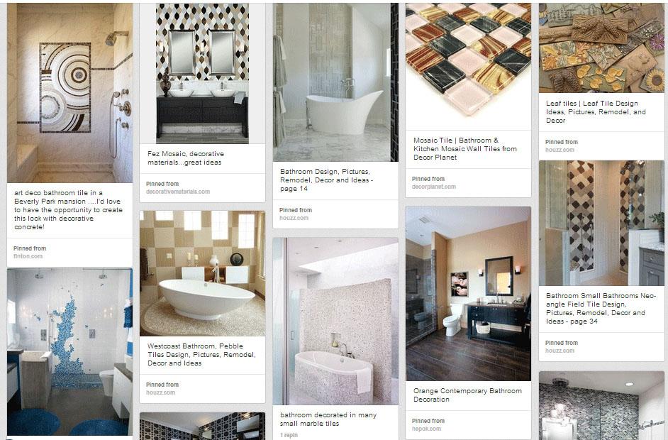 decorative tile ideas for bathrooms