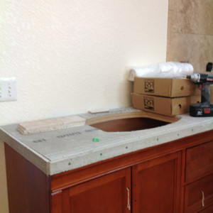 During Countertop Construction