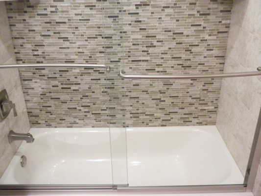 glass tile tub wall parker all about bathrooms