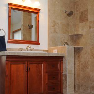Master Bath Cherry Cabinets