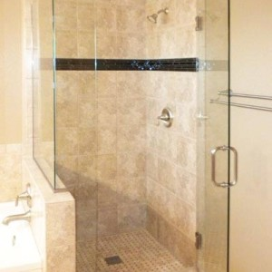 Master Shower Glass Door