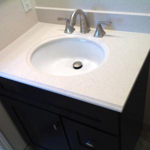 New sink & cabinet bathroom remodel Parker