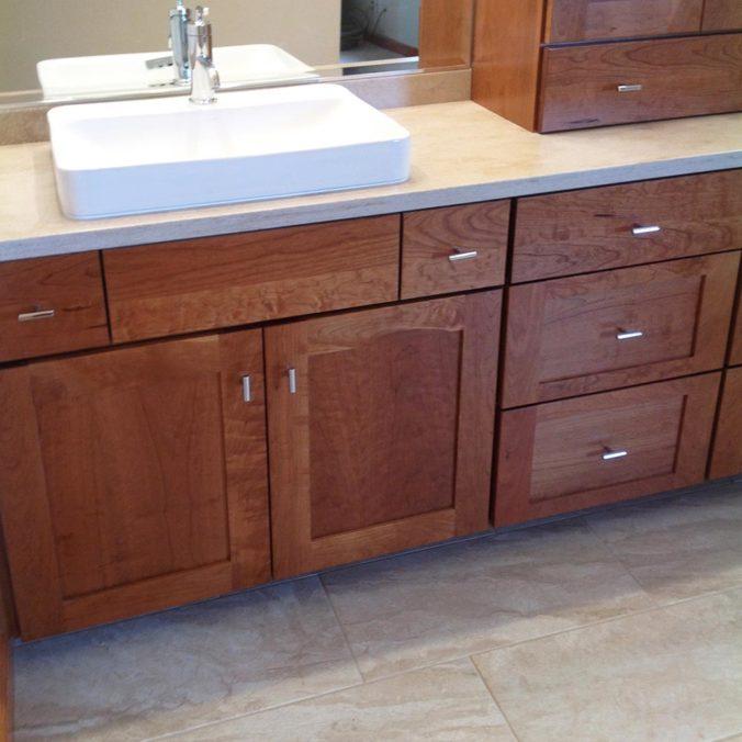 New Vanity Cabinets Bathroom Reno All About Bathrooms