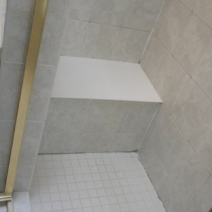 Shower Seat Before Remodel