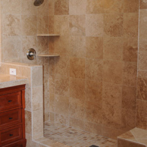 Tiled Shower with Dual Heads