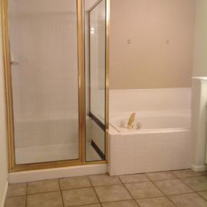 tub shower before remodel