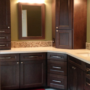 Upper Cabinets in Bathroom