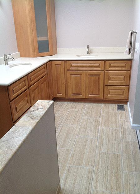 Wood Grain Porcelain Tile Bathroom All About Bathrooms