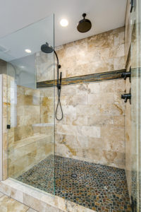 Custom Designed Tile for Shower Enclosure Parker Colorado Remodel