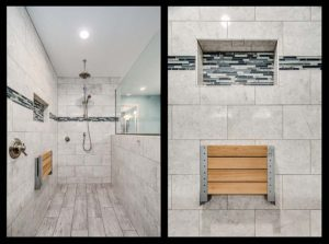 Master bathroom shower remodel - before and after