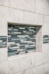 Master bathroom shower remodel - tilework view 2