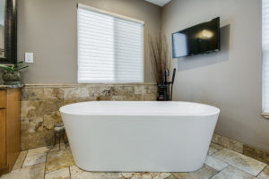 Free standing tub in Parker, Colorado Remodel