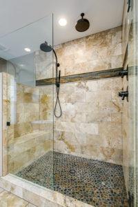 Custom Designed Tile for Shower Enclosure Parker Colorado Remodel