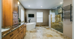 Beautiful Bathroom Remodel in Parker by All About Bathrooms