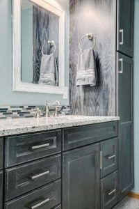 Master bathroom shower remodel - countertop view 2