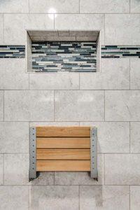 Master bathroom shower remodel - tilework and seat