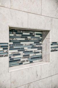 Master bathroom shower remodel - tilework view 2